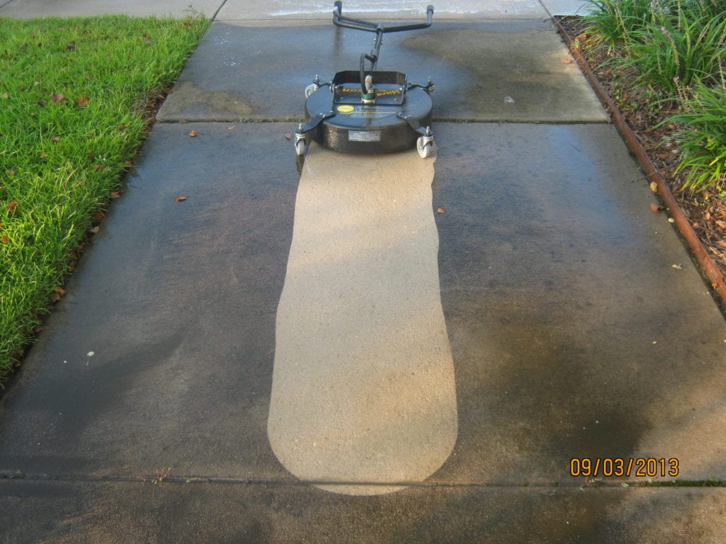 Commercial Concrete Pressure Washing