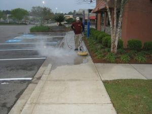 Commercial Sidewalk Pressure Washing